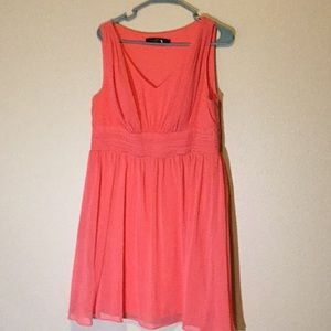 """""""Ever Pretty"""" pink flowy midi dress fully lined"""